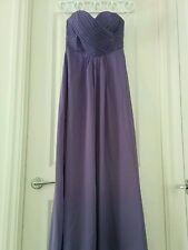 Purple Violet Sweetheart Strapless Chiffon Bridesmaid Dress Size 8 Full-Length