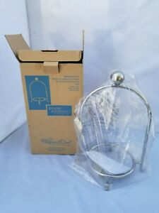 The Pampered Chef Simple Additions New Appetizer Plate Stand Caddy 2072 Silver