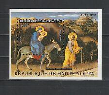 Haute Volta  bloc  tableau noel 72  1973    num: BF 5D  **