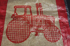 Evergreen Flag Garden Burlap Red Plaid Tractor Farm Country Decor