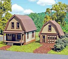 TUSCON HOUSE & GARAGE N Scale Model Railroad Structure Unpaintd Laser Kit LA839