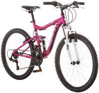 Girls Pink Mountain Bike 24 Mongoose Ledge 2.1