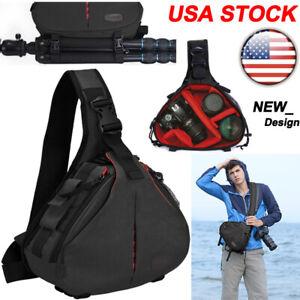 K1 Sling Camera Bag Backpack Shoulder Bag For Canon Nikon Sony Leica SLR DSLR