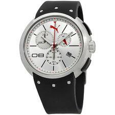 Puma Silver Dial Polyurethane Strap Men's Watch PU102671003