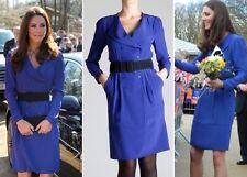 Reiss royal indigo blue Trina dress without belt 12