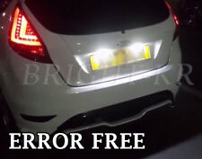 FORD FIESTA MK7 ERROR FREE CANBUS PURE WHITE NUMBER PLATE LED LIGHT BULBS