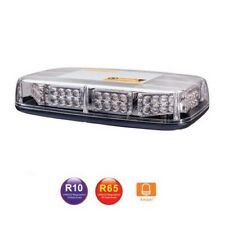Barra Lampeggiante LED Arancione Emergenza 280mm Auto Camion 12V 24V Omologata