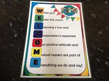 primary educational resource WELCOME POSTER classroom childminder eyfs display