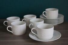 6 Tasses à Café en Porcelaine HERMES Modèle EGEE Lot n°1