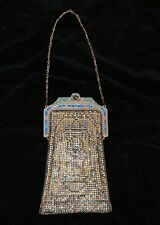 Antique/Vintage Whiting & Davis Antique Mesh Enamel Purse-Early 1900's - Tagged!