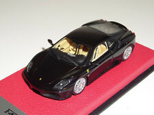 1/43 BBR Ferrari F430 Coupe from 2004 in Daytona Black on Red Leather base