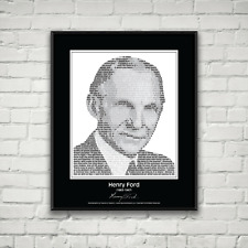 Original Henry Ford Poster in his own words. Image made of Henry Ford quotes!