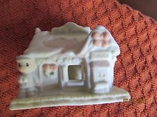 Precious Moments 1996 Xmas Ornament Trinket Train Station Snow Capped broke hook