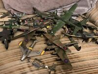 Lot Corgi & Other Diecast Airplanes Military Collectable Vintage Army