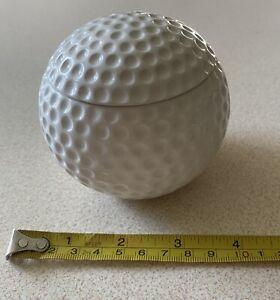 Gifts for golfers Vintage Trinket dish white enamel 3d golf ball
