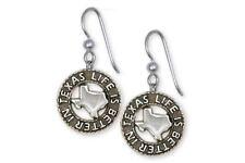 Life Is Better In Texas Earrings Jewelry Sterling Silver Handmade Texas Earrings