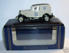 RARE ELIGOR FORD V8 1962 DELIVERY SEDAN PHILIPS GRIS CLAIR 1/43 REF 1217 IN BOX