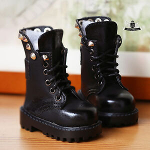 1//3SD//DD BJD Boots PU Shoes Black//Brown Medium Boots Triple Buckles Mature Lady