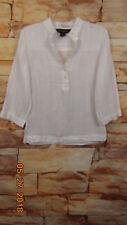 Brooks Brothers Women's Sz 4 Irish Linen Shirt Blouse Button Tunic