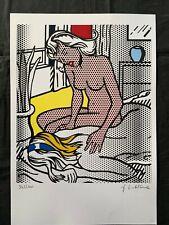 Original vintage rare lithography on paper!hand signed Roy Lichtenstein #2