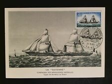 FRANCE MK 1965 SEGELSCHIFF SAILING SHIP MAXIMUMKARTE CARTE MAXIMUM CARD MC c8530