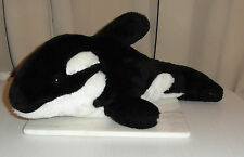 Large Killer Whale Orca (Orcinus orca) Dolphin Cuddly Toy 50cm long. Retired.