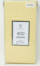 Wamsutta 400 Thread Count 100% Cotton King Pillowcases in Butter, Set of 2