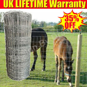 50m L8/80/15 Stock Fencing Sheep Pig Cattle Livestock Fence Galvanised Wire Mesh