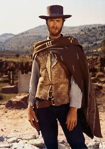 """Reproduction """"Clint Eastwood - Poncho"""", Western Poster"""