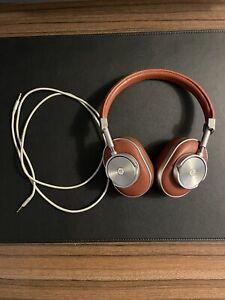 Master & Dynamic MW60 Foldable Headphones - Silver Metal/Brow