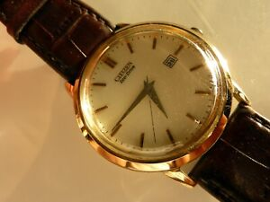 Gents Citizen Eco Drive Solar Powered Gold Plated Watch E111-S079748 Working