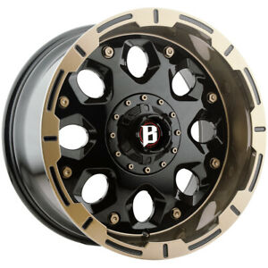 "Ballistic 968 Shield 20x10 6x135/6x5.5"" -19mm Black/Bronze Wheel Rim 20"" Inch"