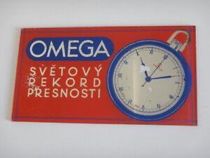 50s 50 Plate Advertising Of Showcase OMEGA Slovak World Record Precision