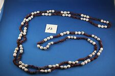 Seed Necklace Brown gray 76 inches   (23)