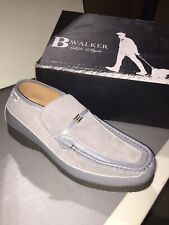 british walkers mens shoes Grey/blue Suade/leather Size 14