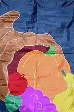 """""""Cornucopia"""" - Horn of Plenty Large Applique Porch Size Flag"""