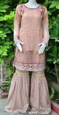 Pakistani Indian Designer Party Wear Gharara Pants  M, L