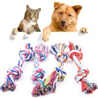 2x Chew Toy with Knot Fun Tough Strong Puppy Pet Dog Tug War Play Cotton Rope