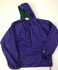 Vintage Helly-Hansen 90's Unisex L Pullover Purple Green Hoodie Sz Medium M Guc