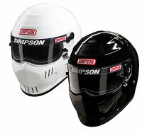 Simpson Speedway RX Helmet/Lid SA2015 White, Black, Blue Oval/Track - All Sizes