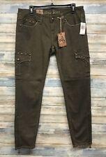 Antique Rivet Jeans 26 x 30 Women Army Skinny Leg Stretch     (I-85,86,87)