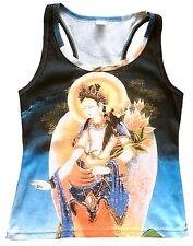 White Tara tipet nepal Buda Shiva Goa tattoo arte Designer Tank Top camisa S/M