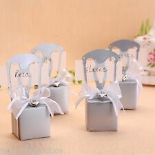 100*silver chair Bomboniere Box/Place card Wedding