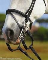Windsor Equestrian Leather Pelham Roundings Black & Havana Brown Hunting Pelhams