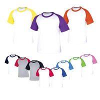 Children Kids Boys Girls Raglan Baseball Tshirts Jersey Casual Top Tee t shirt