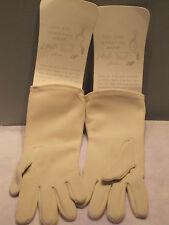Nos Deadstock ViNtage OffwhiTe-BeiGe VaniLla Cream 50 60s vLv RockabiLly Gloves