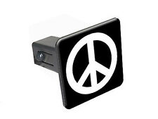 "Peace Sign - 1 1/4 inch (1.25"") Trailer Hitch Cover Plug Insert"