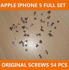 New Genuine Original OEM iPhone 5 Full Screw Set Silver 54pcs UK Seller FREE P&P
