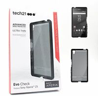 Genuine Tech21 Evo Check Case Cover for Sony Xperia Z5 Ultra Thin - Black