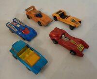 5x Vintage Corgi Matchbox Lotus super7 Futura Soopa Turbo fury Porsche 917